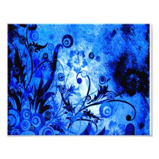Blue Floral Swirls Photograph