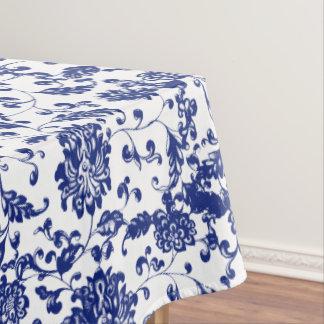 Blue Floral Tablecloth