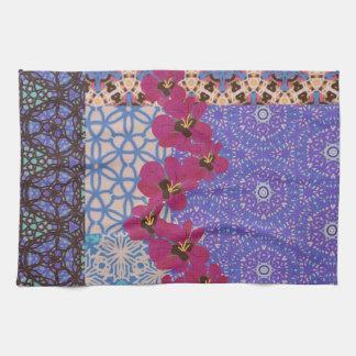 Blue Floral Tea Towel by KCS