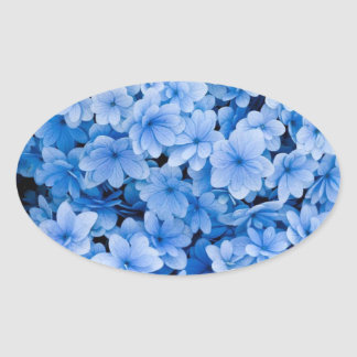 Blue Floral Wedding Envelope Seal Stickers