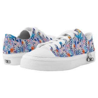 Blue floral  Zipz Low Top Shoes, UK: 3 / EUR: 35.5