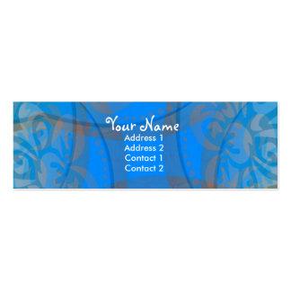 Blue Floralia Profile Card Business Card Templates