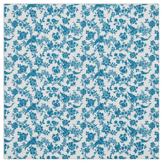 Blue florals fabric