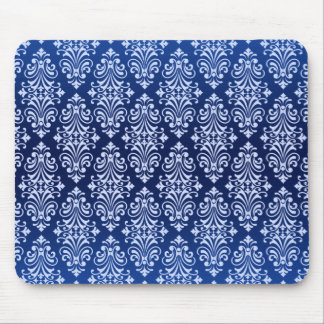 Blue Flourish Mouse Pad
