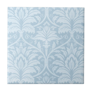 Blue Flourish Tile