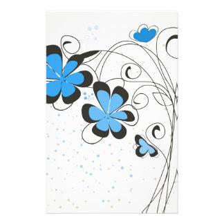 Blue flower2 stationery