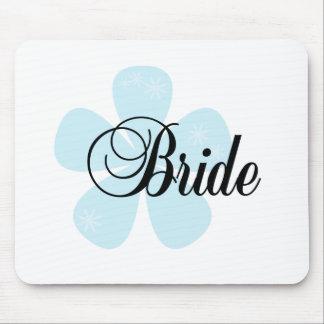 Blue Flower Bride Mouse Pad