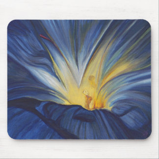 Blue Flower Center Mousepad