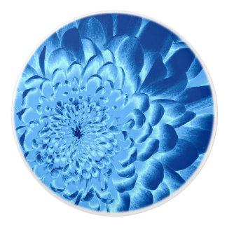 BLUE FLOWER DRAWER KNOB