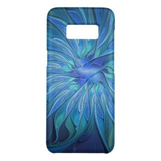Blue Flower Fantasy Pattern, Abstract Fractal Art Case-Mate Samsung Galaxy S8 Case