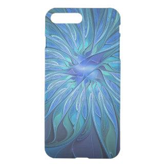 Blue Flower Fantasy Pattern, Abstract Fractal Art iPhone 7 Plus Case