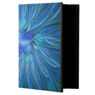 Blue Flower Fantasy Pattern, Abstract Fractal Art Powis iPad Air 2 Case