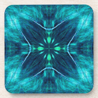 Blue Flower Fractal Design Coaster