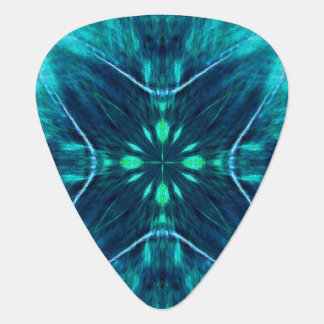 Blue Flower Fractal Design Guitar Pick