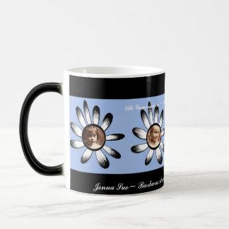 Blue Flower Frames Morphing Mug