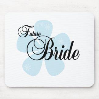 Blue Flower Future Bride Mouse Pad