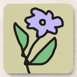 Blue flower . garden beverage coaster
