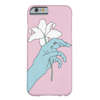 Blue Flower Hand Barely There iPhone 6 Case