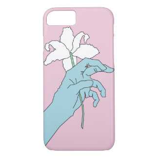 Blue Flower Hand iPhone 8/7 Case