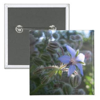 Blue Flower Haze Pin