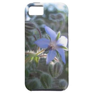 Blue Flower Haze Tough iPhone 5 Case