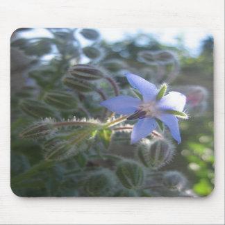 Blue Flower Haze Mouse Pad