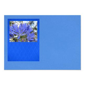 Blue Flower 5x7 Paper Invitation Card