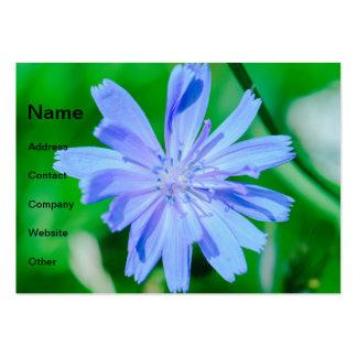 Blue flower macro business card