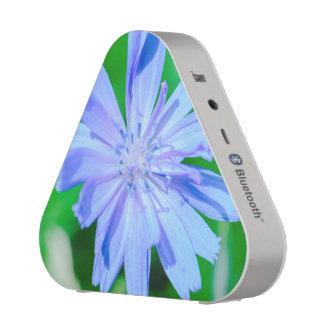 Blue flower macro bluetooth speaker