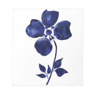 Blue Flower Notepad