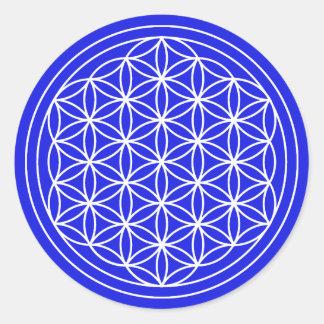 Blue Flower of Life Sticker