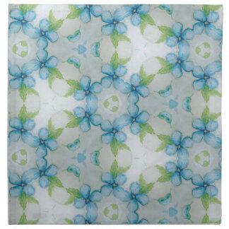 blue flower  Pansy pattern Napkin