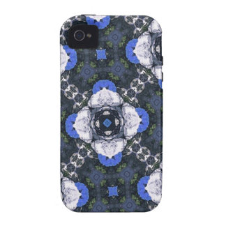 Blue Flower Pattern iPhone4 Case