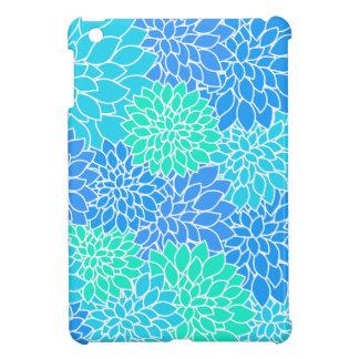 Blue Flower Pattern iPad Mini Cases