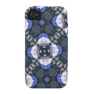 Blue Flower Pattern iPhone4 Case