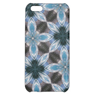 Blue Flower Pattern Case For iPhone 5C