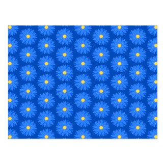 Blue Flower Pattern. Postcard