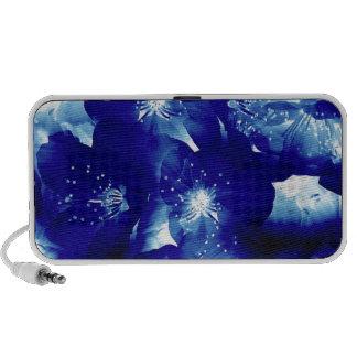 Blue Flower Pattern Notebook Speaker
