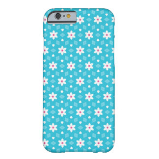 Blue Flower-Patterned Phone Case Barely There iPhone 6 Case