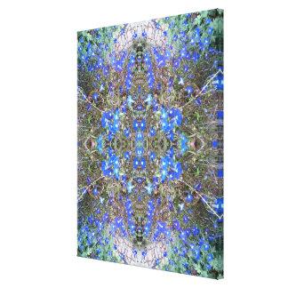 Blue Flower Photo Fractal Heart 3 Canvas Print