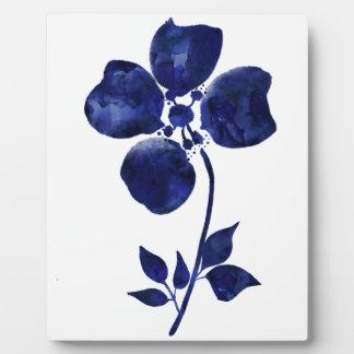 Blue Flower Plaque