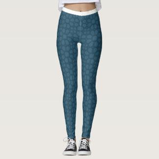 blue flower print Woman's Leggings,Yoga Gym @ Swan Leggings