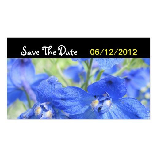 Blue Flower Save The Date Wedding Card Business Cards