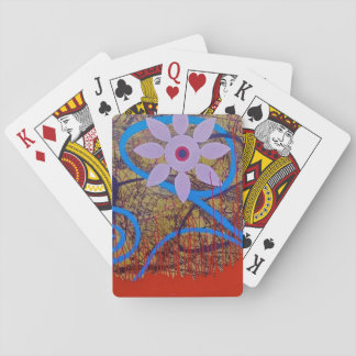 BLUE FLOWER SET OF CLASSIC PLAYING CARDS