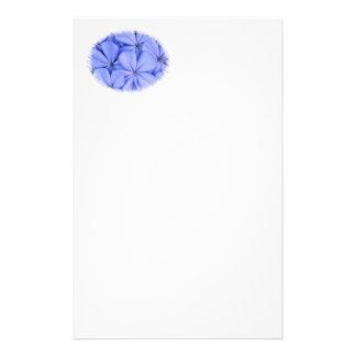 Blue Flower Stationary Custom Stationery