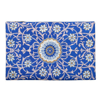 Blue Flower Vintage Playing Card Pattern bag Travel Accessories Bags
