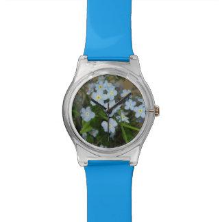 Blue Flower Watch