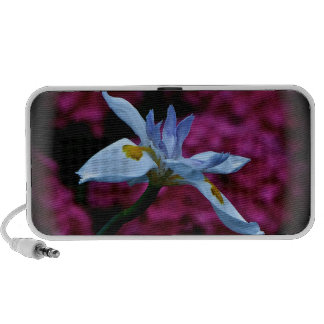 BLUE FLOWER WITH PINK BACKGROUND PORTABLE SPEAKERS