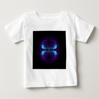 Blue flowered globe abstract baby T-Shirt