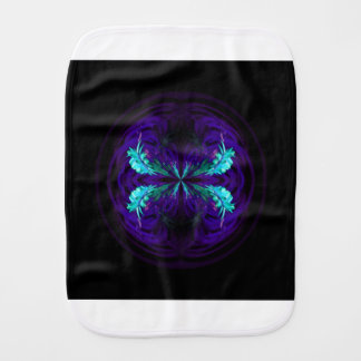 Blue flowered globe abstract burp cloth